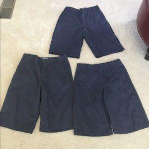 Old navy shorts uniform size 18 boys young men's